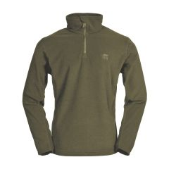TT PULL POLAIRE IDAHO COL ZIP - OLIVE