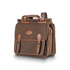 SAC BLASER BRIEFBAG SERGE/CUIR - MARRON