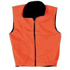 GILET RÉVERSIBLE POLAIRE 100% POLYESTER (INDIQUER TAILLE)